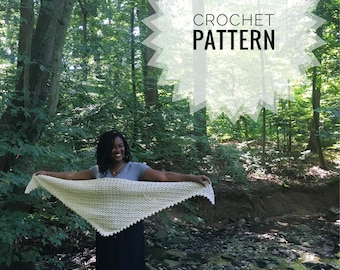 Crochet Triangle Scarf Pattern | Fulton Triangle Shawl | Crochet Scarf Pattern | Triangle Scarf Pattern | Crochet Pattern | Crochet Patterns