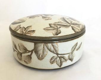Round Vintage Porcelain Trinket Box