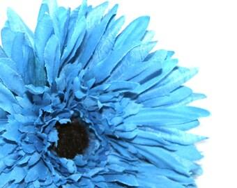 Blue Spider Daisy - Artificial Flower, Silk Flower