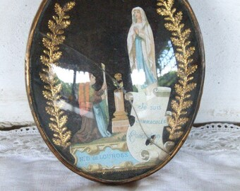 Christian Religious Memento from Lourdes