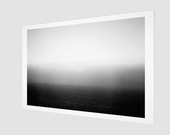 Mediterranean Sea Smoke Fine Art Print, 1:50 Limited Edition / home decor / decoration / photo / photography / black and white / stripe