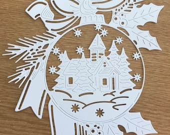 Glisten in the snow die cuts x 2