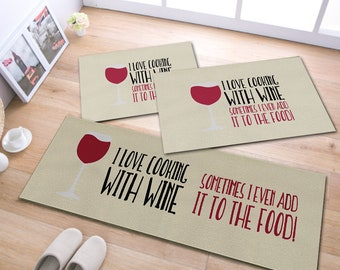 "Kitchen Rugs With Wine, 15""x35"" - 3 piece"