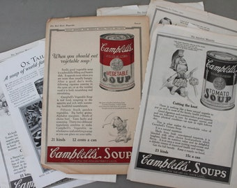 Vintage Campbell's Soup Ad 1917-1950s