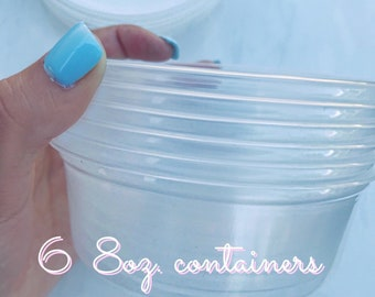 8oz Slime Containers (X6)