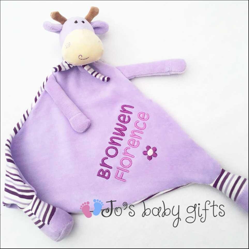 Personalised baby lilac giraffe comforter cubby baby teddy perfect personalised baby lilac giraffe comforter cubby baby teddy perfect gift for a newborn baby boy or girl baby blankie new baby christening negle Choice Image