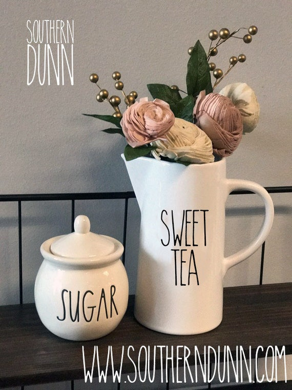Rae Dunn Inspired Vinyl Decal Sweet Tea Rae Dunn Southern
