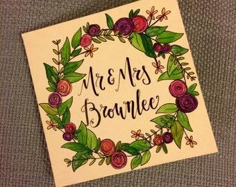 Personalised Wreath Card