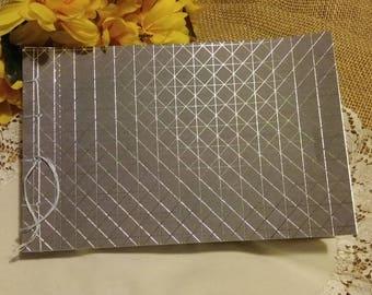 Wedding Guest Book Album - Geometric Gray