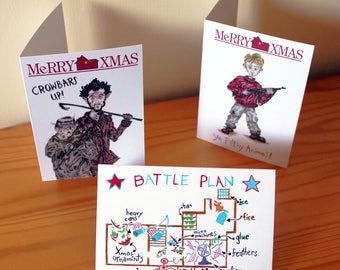 Home Alone Xmas Cards - Pack of 3