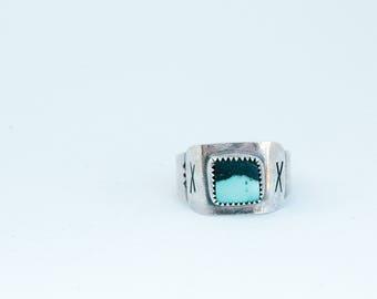 Men's two tone stone ring