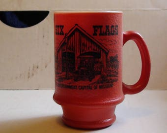 vintage six flags st louis  red mug