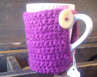 Cute as a Button Cup Cozy