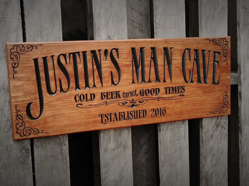 Personalized Man Cave Signs Etsy : Man cave bar sign personalized pub business signage