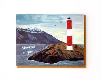 Thinking of You Lighthouse Card
