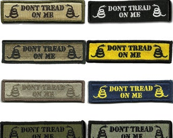 """BuckUp Tactical Morale Patch Hook Don't Tread On Me Morale Patches 3.75""""x1"""""""
