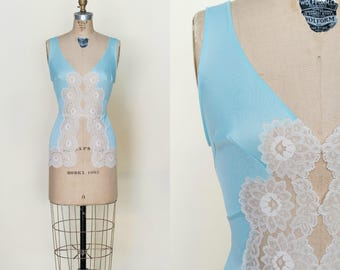 Vintage 1960s Blue Camisole Small