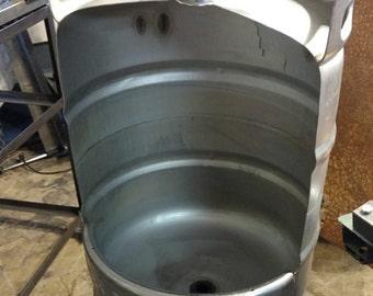 Beer Keg Urinal for Man Cave, Pub