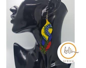 African Print Earrings/ Dangling Earrings / African Earrings