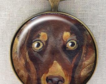 Porte-clé teckel ~ cadeaux pour elle ~ poil long teckel chocolat ~ Teckel porte-clé ~ chien cadeau papa ~ Doxie propriétaire cadeau ~ April Birthday