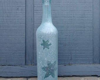 Scattered Snowflakes Wine Bottle Vase
