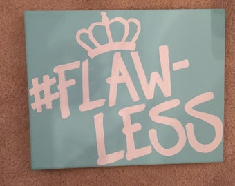"""Beyoncé """"#Flawless"""" Quote Canvas Painting"""