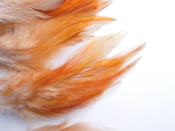 10 Brown-orange natural feathers - Rust brown feathers brown - Copper coour feathers - Amber colour feathers 4-7 inches. UK Seller