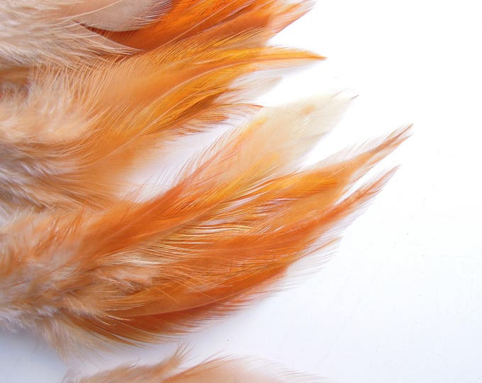 10 Brown orange natural feathers, Rust brown feathers brown, Copper coour feathers, Amber colour feathers 4-7 inches