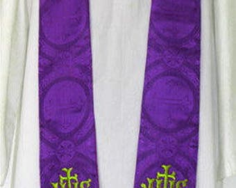 Purple Stole - chasuble clergy minister priest mass vestment church
