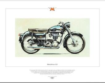 MATCHLESS G3 - Motorcycle Fine Art Print - 350cc Single