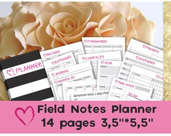 Traveler's notebook insert printables mtn field notes tn inserts pocket planner pages 2016 undated small planner _ Any Resize is FREE
