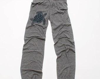 be still my Sea Turtle Yoga Pants, Wideleg Pants, Lounge Pants, S,M,L,XL