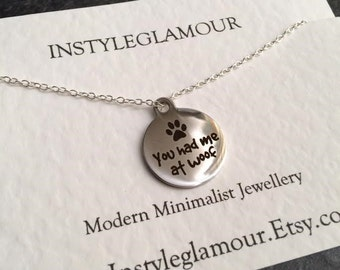 Dog Necklace, Silver Charm Necklace, Stainless Steel  Necklace,Birthday Gift, British Seller UK,Mothers Day Gift