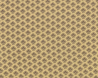 Le Bouquet Francais by French General - Allover on Yellow - 1/2yd
