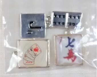 E-114a Game Pieces Charms