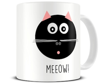 Cat Lover Gift - Cat Mug - Personalised Meeow Cat Mug - Cat Gifts - Funny Cat Gifts - MG564
