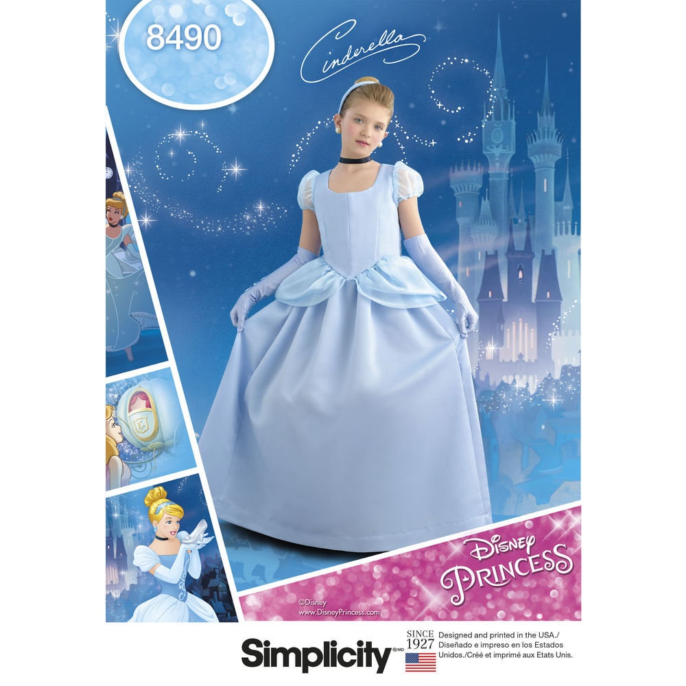 Dinsey Princess Cinderella Costume for Children & Girls