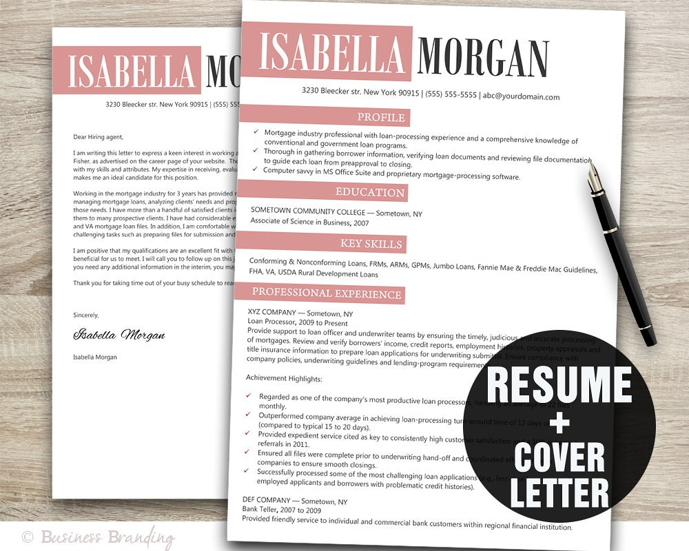 Creative Resume Template Resume Cover Letter Template Cv