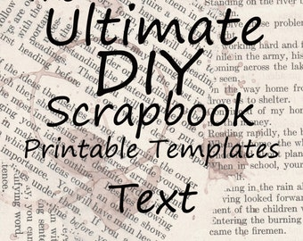 The Ultimate DIY Scrapbook Printable Templates Text + Plain Templates