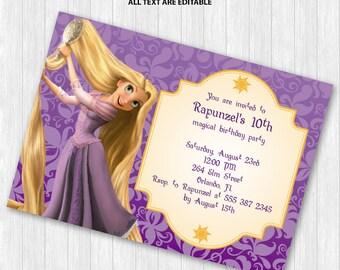 Rapunzel Party Invitation