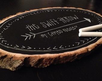 Chalkboard Wood Slice - Wall Decor - Chalk