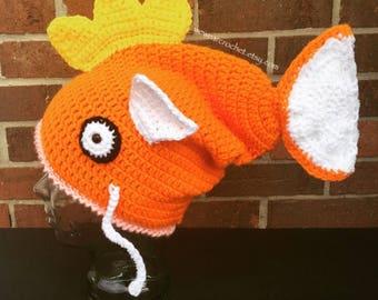 Magikarp Hat Crochet Pattern ***PATTERN ONLY***