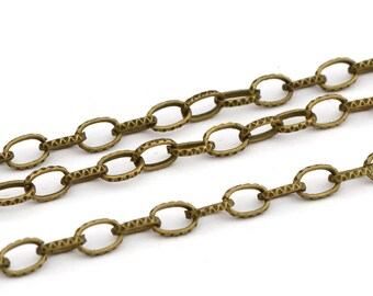 Fancy ethnic antique bronze chain