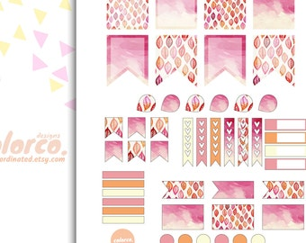 ECLP weekly kit Printable Planner Stickers Erin Condren ECLP Happy Planner Instant Digital Download