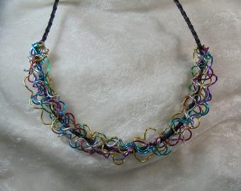 Chain wrapped with jewelry wire