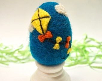 Needle Felted Egg - Kite - Easter Egg