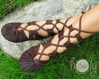 Hand Stitched Brown Leather Sandals, Womens Leather Sandals, Mens Sandals, Womens Shoes, Mens Leather Sandals, Hippie Sandals, Brown Sandals