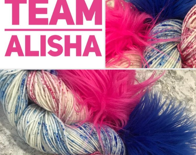 DTorder/team Alisha Hat Kit/Sparkle/Hand Dyed Yarn/Indie Dyed Yarn/Knitting/Crochet/DKYarn/HAT KIT/SW Merino Nylon/ArkansasYarnCo