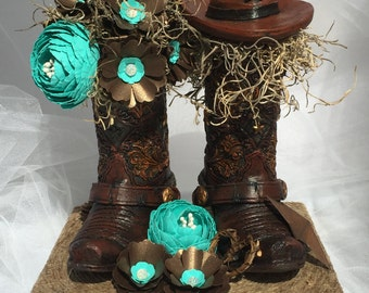 Western Boot Cake Topper, Country Wedding Cake Topper, Boot Cake Topper