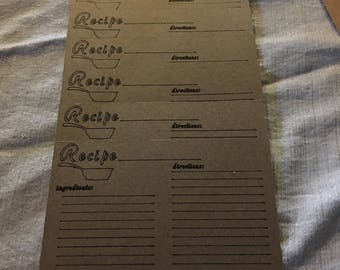 Set of 6 Recipe Cards